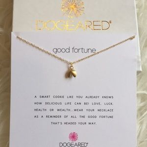 """Dogeared Good Fortune gold tone necklace 18"""""""